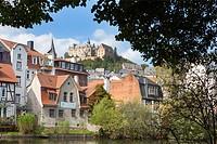 View of Marburg, River Lahn, Marburg, Hesse, Germany, Europe