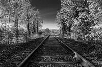 France, Rhone-alpes, Livron, railway line