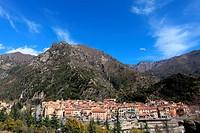 The perched village of Breil sur Roya in the Roya Valley, Mercantour national park, Alpes-Maritimes, Provence-Alpes-Côte d´Azur, France.