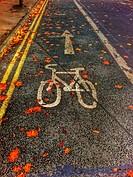 Cycling sign England UK United Kingdom GB Great Britain.