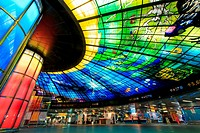 The Dome of Light at Formosa Boulevard Station, the central station of Kaohsiung subway system in Kaohsiung City.