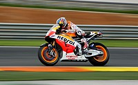 Marc Marquez during Grand Prix de la Comunitat Valenciana at Ricardo Tormo racetrack in Cheste near Valencia