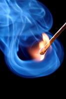 flame and smoke.