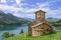 France, Alps,Roselend Lake in summer.