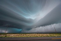 Very intense high precipitation supercell storm moves south in the Nebraska Sand Hills south of Valentine, July 13, 2009. Winds gusted upwards of 60 m...