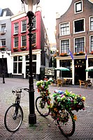 Decorated bicycles in Amsterdam