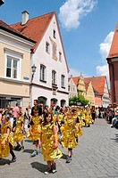 The children´s parade festival in Memmingen, Germany