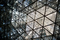 "Interior of Fukuoka Tower, the """"Mirror Sail,"""" Japan´s tallest seaside tower (234 meters), Fukuoka, Japan."