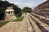 Palenque, Maya site, Mexico.