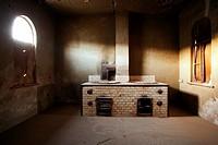 Butchery in Kolmanskop Ghost Town - Luderitz, Namibia, Africa.