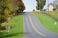 Haggerstown Pike, Antietam National Battlefield, Sharpsburg, Maryland, USA.