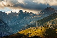 Stormy morning in Picos de Europa National Park, los Urrieles (central massif).