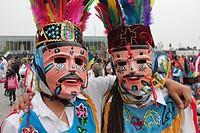 Dancers, Mexico city, Mexico.