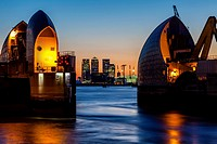 The Thames Barrier, London, England.