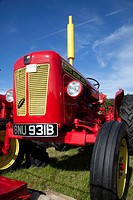 vintage tractor at a country fair, Derbyshire, Britain.