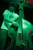 BADAJOZ, SPAIN. SEPT 19: Musician plays cello at the Mercantil live music concert hall, SEPTEMBER 19, 2011 in Badajoz, Spain.