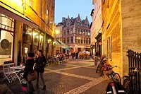 Antwerp cityscape Christmas time Belgium on Dec 6, 2014 in Antwerp Belgium.