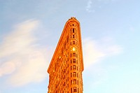 Flat Iron Building, Midtown Manhattan, 5th Avenue and Broadway, New York City, USA.