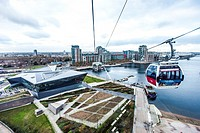 The Emirates Air Line (also known as the Thames cable car) is a ten-minute (five minutes in rush hour) gondola lift link across the River Thames in Lo...