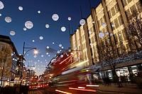 Christmas lights on Oxford Street, London, United Kingdom.