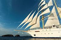 Star Flyer sailing cruise ship, Costa Rica.