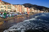 Alassio, Riviera dei Fiori, Savona, Liguria, Italy.