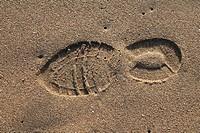 Shoeprint on sand