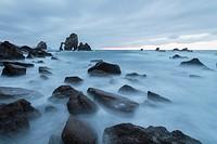 Silk Effect on the coast of Bakio, San Juan de Gaztelugatze