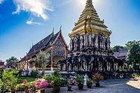 Asia. Thailand, Chiang Mai. Wat Chiang Mun temple.