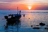 Asia. Thailand. Andaman Sea. Koh Lanta island. Klong Khong Beach. Sunset.