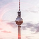 television tower in Berlin.