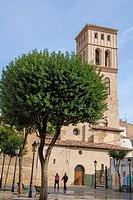 San Bartolome romanic church tower, XIIth to XIX centuries,La Rioja capital,northern Spain.