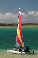 Sailing in Pumicestone Passage, Caloundra, Sunshine Coast.