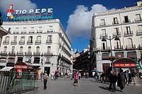 The Puerta del Sol square in Madrid is. Here is since 1950 the so-called Kilometre Zero of the Spanish radial roads.