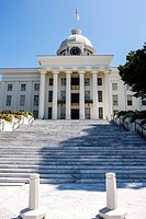 "The Alabama State Capitol Building on """"Goat Hill"""" in Montontgomery."