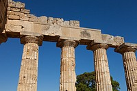 Temple of Hera at Selinunte, the ancient Greek city on the southern coast of Sicily, Italy, Europe.