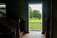 Interior detail of the 19th century Drayton Hall plantation near Charleston South Carolina.