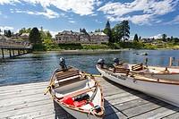 North America, Canada, British Columbia, Vancouver Island, Campbell River, Painters Lodge salmon fishing resort.