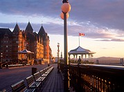 Chateau Frontenac and Terrasse Dufferin, Quebec City, Quebec, Canada.