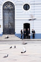 Naval Command Headquarters, 1910 neoclassical building, Plaza Sotomayor, Valparaiso, Chile, South America.