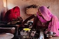 Inside a kitchen at the Bishnoi region.