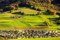 Landscape near Niederdorf, Kanton Basel-Landschaft, Switzerland.