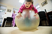 Orphans play in physiotherapy room, Orphanage ´Zhytomyr regional children home´, Ukraine. 2 February 2015. ´Zhytomyr regional children´s home´ has 67 ...
