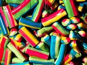 Coloured candies in the market of Marsaxlokk - Malta.