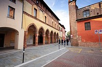 Italy, Lombardy, Pizzighettone, Palazzo Comunale, Old City Hall.
