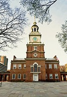 Independence Hall in Old City, 5th and Chestnut Street, Philadelphia Pennsylvania USA.