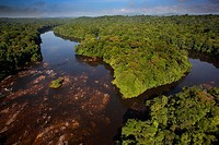 """""""""""Saut Athanase"""" on the Approuague river. Dry season. French Guiana."