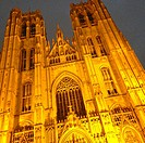 St. Michael and St. Gudula Cathedral by night- Brussels