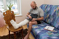 A man with a foot injury.