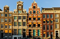 Dutch houses, Amsterdam, Netherlands, Europe.